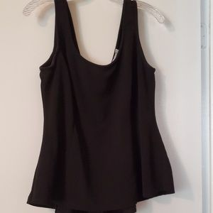 Black . Peplum Top.